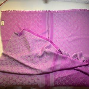 GUCCI scarf/shawl Micro GG wool silk